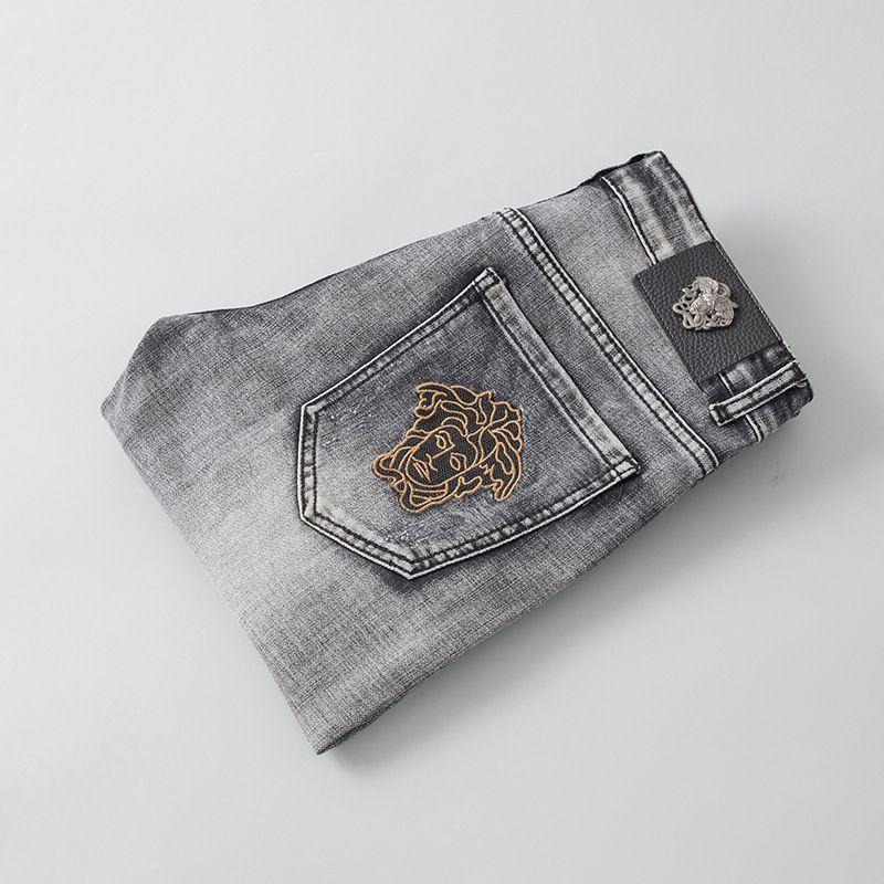 Jeans 2019 Automne hommes et d'hiver Nouveaux Jeans de mode pour hommes les pantalons de qualité et exquis broderie