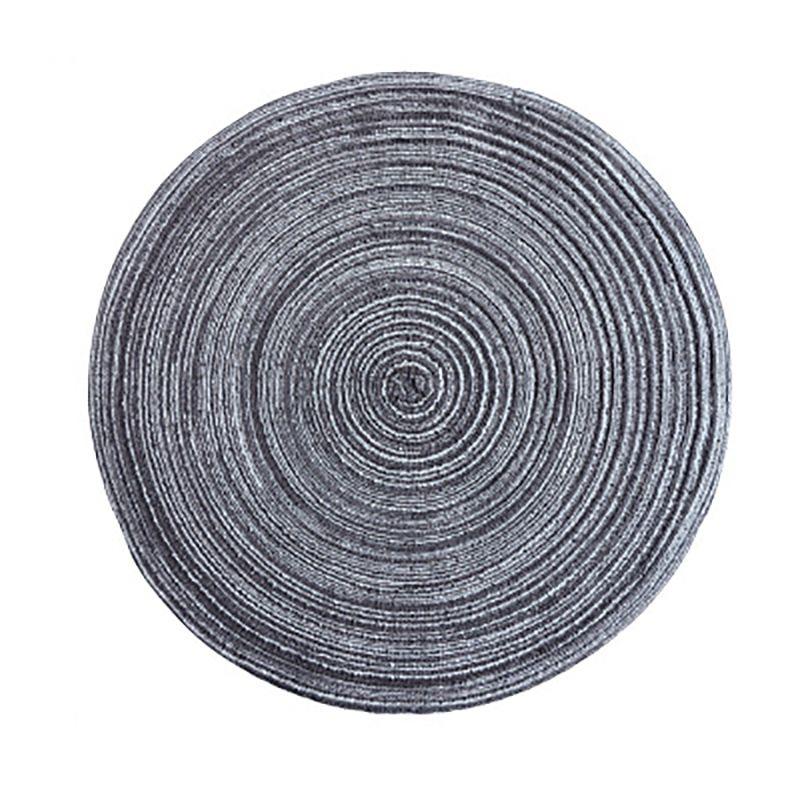 Rotonda Struttura tabella ramiè isolamento rilievo solido tovagliette di lino di slittamento non Tabella Mat Accessori Cucina decorazione domestica Pad