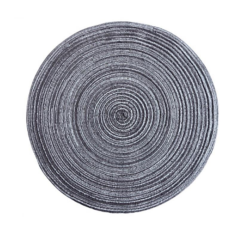 Diseño Mesa redonda ramio cojín del aislamiento sólido manteles de lino antideslizante estera de tabla de cocina Accesorios de decoración del hogar del cojín