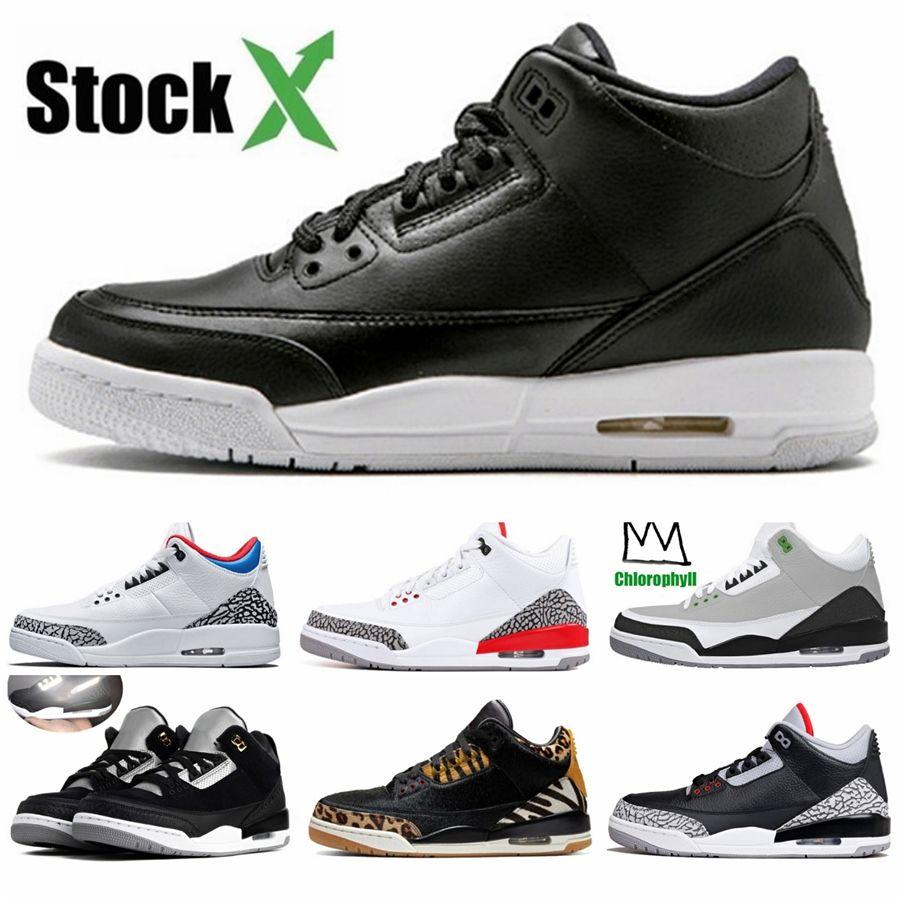 Atacado New 3 Iv Black Men tênis de basquete 3S Masculino Esportes Formadores Sneakers alta qualidade com caixa Tamanho 7-13 # 783