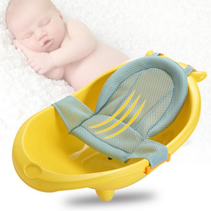Infant regolabile vaschetta per il bagno Mesh antiscivolo doccia T a forma di Tuck Baby Care Net giocattolo Fun Time vasca da bagno bagno con doccia