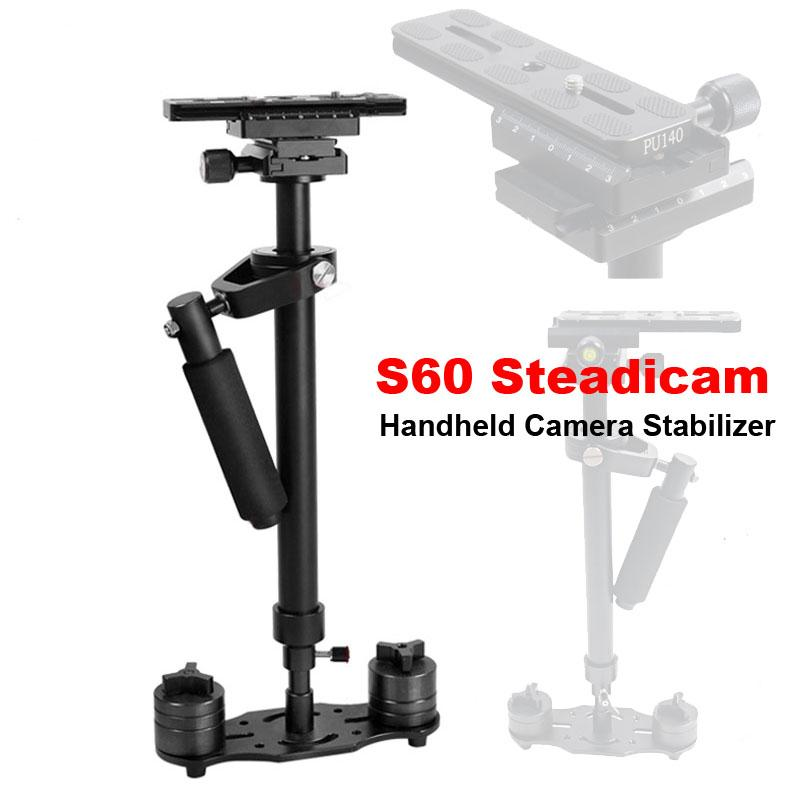 Freeshiping Professional S60 60cm 비디오 안정기 휴대용 DSLR 카메라 Steadicam 카메라 비디오 DV DSLR에 대한 꾸준한 니콘 캐논 소니 파나소닉