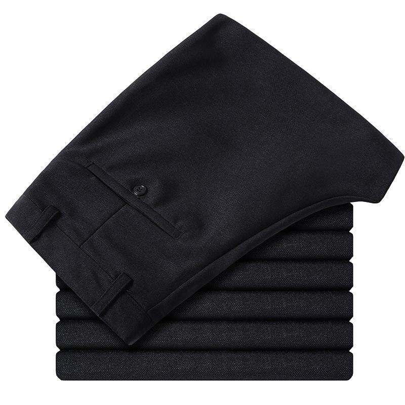 Новая мода мужской полноценный Slim Fit деловой костюм брюки / Мужской досуг чистый цвет Повседневные брюки / мужские брюки тонкие ноги 30-41