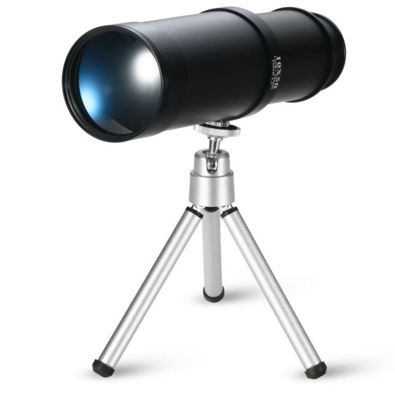 10X50 High-definition Birdwatching Binoculars Telescope New Monocular Astronomical Professional Telescope with Portable Tripod