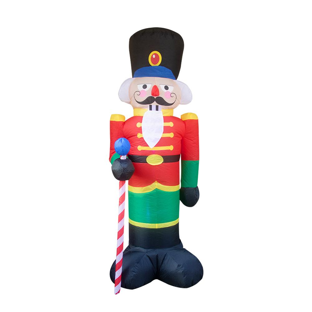 LED와 크리스마스 풍선 LED 진저 맨 쿠키 실내 야외 마당 Airblown 장식 재미있는 크리스마스 파티 디스플레이 크리스마스 장식을 점등