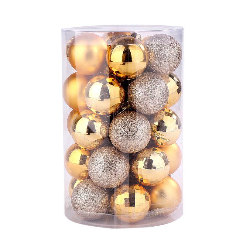 34pcs / Set Weihnachten dekorativen Ball Shatterproof Ornaments Baub Baum Anhänger Hängende Set-Hausgarten-Zubehör