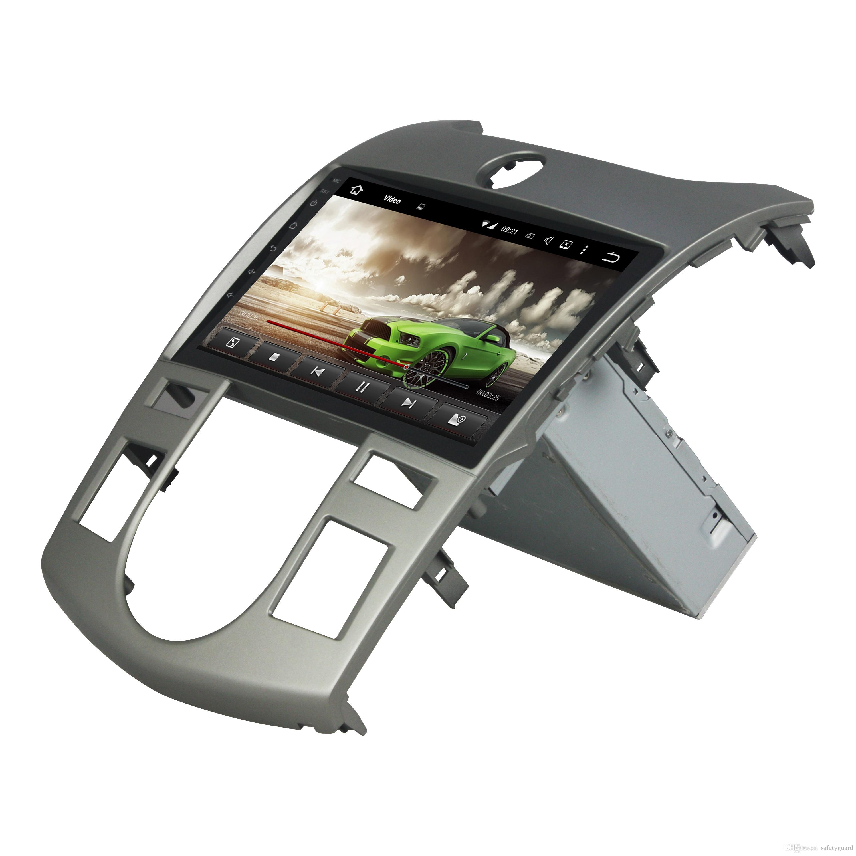 Octa Core 1 din 9 Android 8.0 Car dvd Radio GPS لكيا سيراتو فورتي 2008-2012 واي فاي بلوتوث USB مرآة رابط 4GB RAM 32GB / 64GB ROM