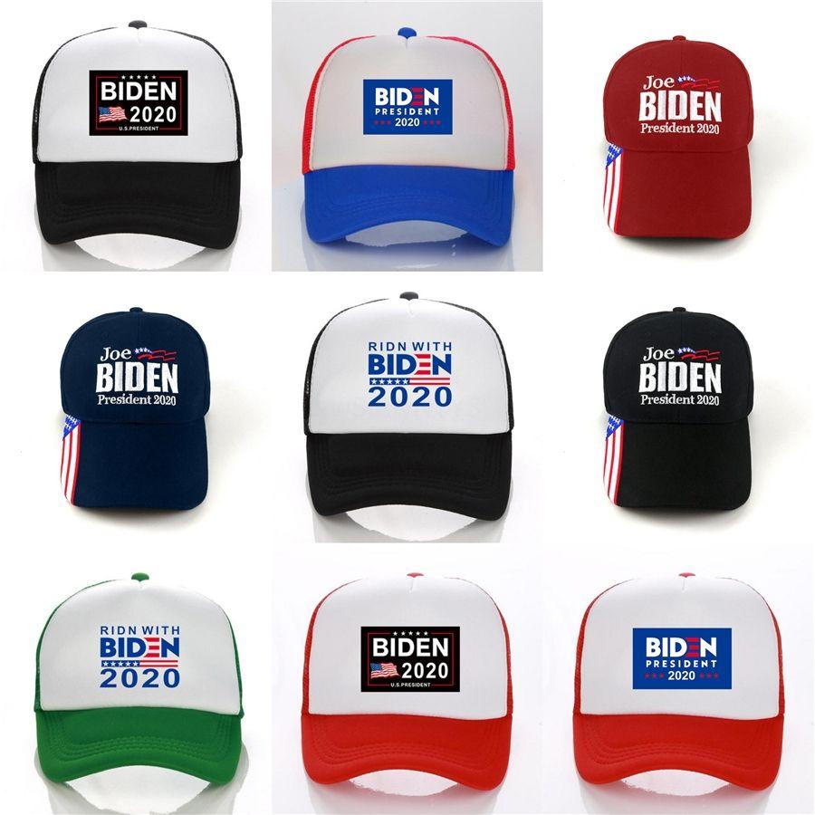 100 1Pcs Machen Amerika Great Again Hat Donald Biden Republikaner Snapback Sport-Hüte Baseballmützen USA-Flaggen-Frauen der Männer Fashion Cap F765 # 604