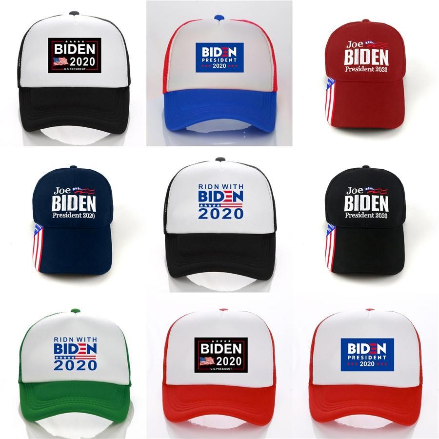 100 1Pcs hacer de Estados Unidos Gran nuevo sombrero Donald Biden republicano Snapback de las gorras de béisbol Deportes para hombre Usa Flag Cap manera de las mujeres F765 # 604