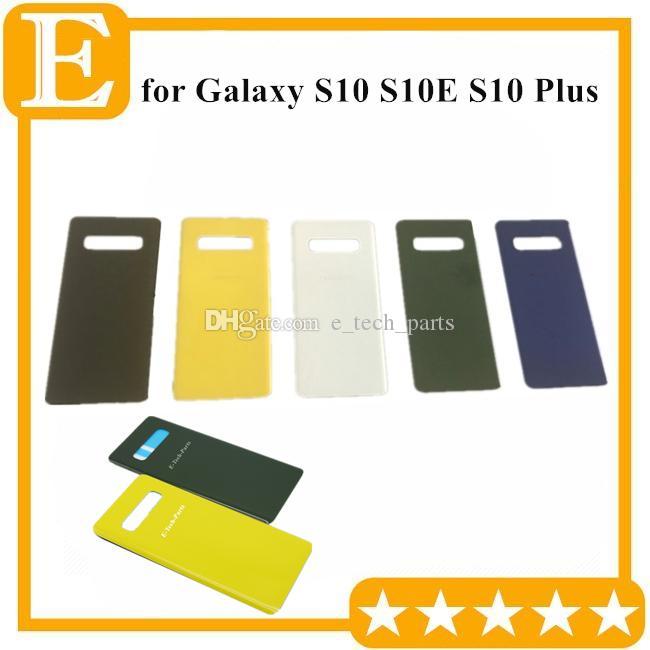 Samsung Galaxy S10 S10E S10 Artı Arka Pil Kapağı Kapı Arka Cam Konut Case + yapışkan Yedek 100Pcs DHL için bir Kalite Geri Cam