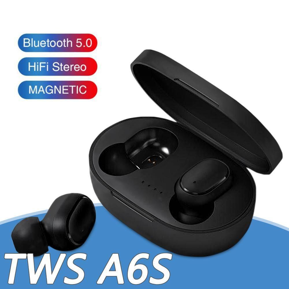 Auricular de Bluetooth para auriculares Bluetooth TWS A6S 5.0 Wireless Auriculares vida impermeable auricular Bluetooth con micrófono para todos GooPhone