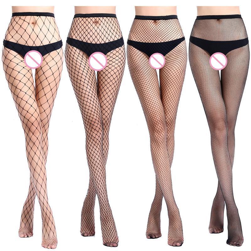 Mujer Lencería Sexy Pantimedias Vaqueros Agujero Inferior De Malla Mallas Calcetines Eróticos Artículos Íntimos Para Sexo T190710