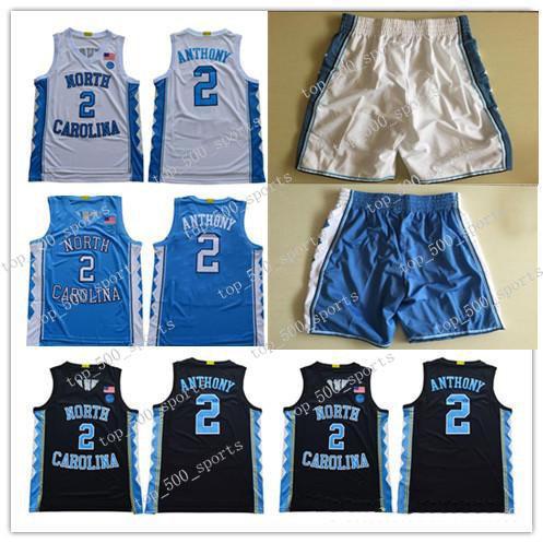 Klasik NCAA Kuzey Carolina Tar Topuklu # 2 Cole Anthony Michael College Vince Carter 2019 UNC Mavi Siyah Beyaz Basketbol Formaları Şort