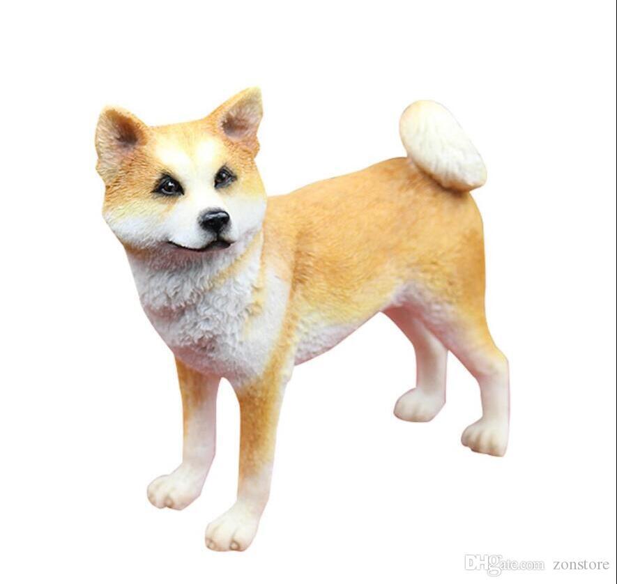 لطيف اكيتا الكلب تمثال منحوتة اليدين الراتنج موقف الكلب تمثال أبحث لك عن الجدول المنزل والديكور حديقة