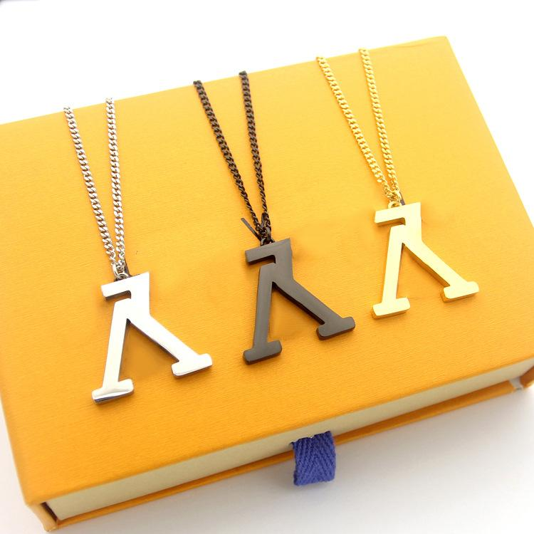 2019 новый магазин модной одежды высокого качества реверс V золотое ожерелье пару ожерелье женщин день подарок ювелирные изделия оптовая любовь ожерелье Валентина