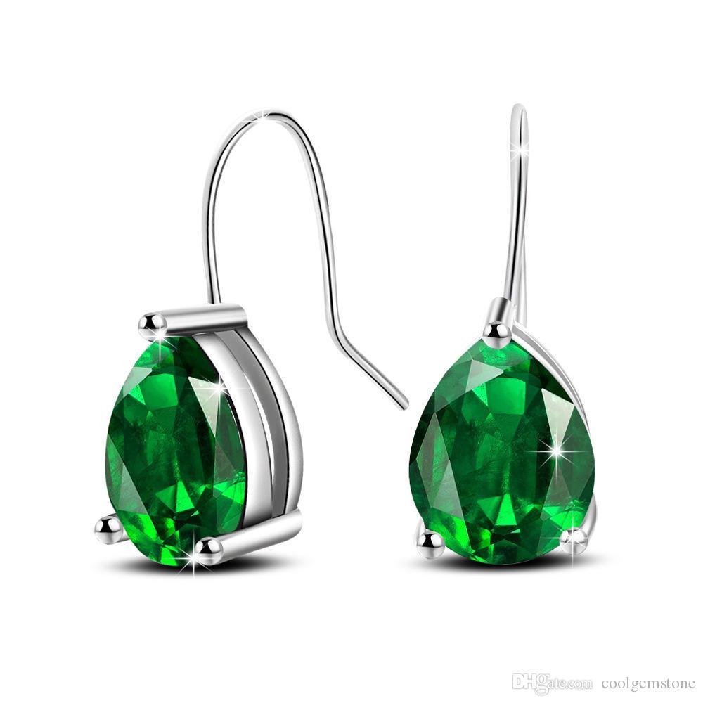 6 Пар Luckyshine Новый Зеленый Капли Воды Кристалл Циркон Серьги Щепка Для Женщин Серьги Мотаться