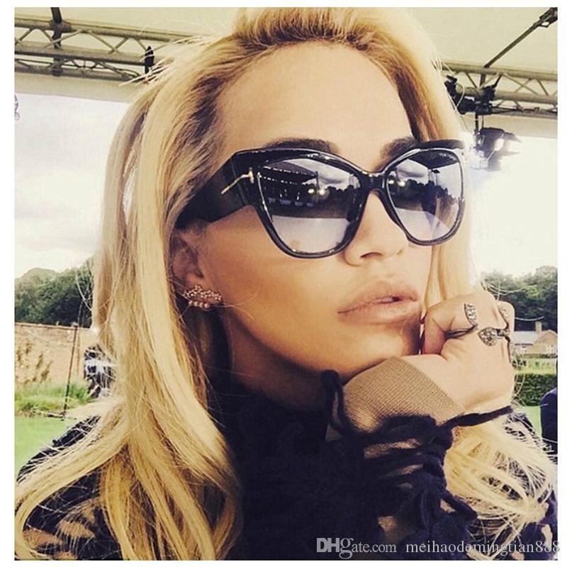 Güneş gözlüğü Oversize Asetat Kedi Göz Güneş Gözlükleri Kadın Seksi Shades óculos feminino de sol 2020 Yeni Marka Tasarımcı Kadınlar 7710
