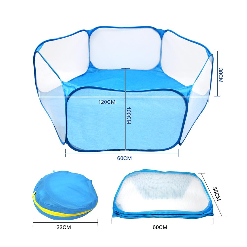 Small Animals Breathable Folding Fence For Hamster Hedgehog Puppy Cat Rabbit Guinea Pig Portable Pet Cat Dog Cage Tent Playpen