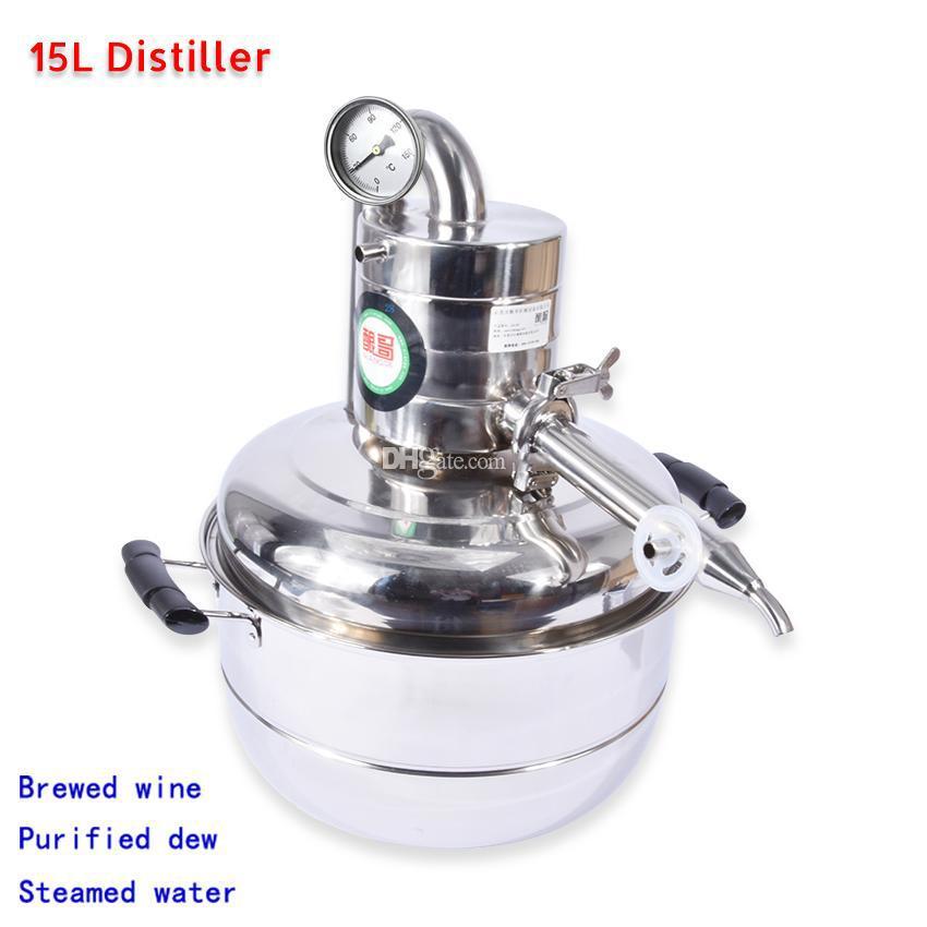 15L Alkohol Whisky Wasser Destiller Moonshine Edelstahl Wasser Wein machen Kit Bar Haushalt Vakuum Destillation Kessel