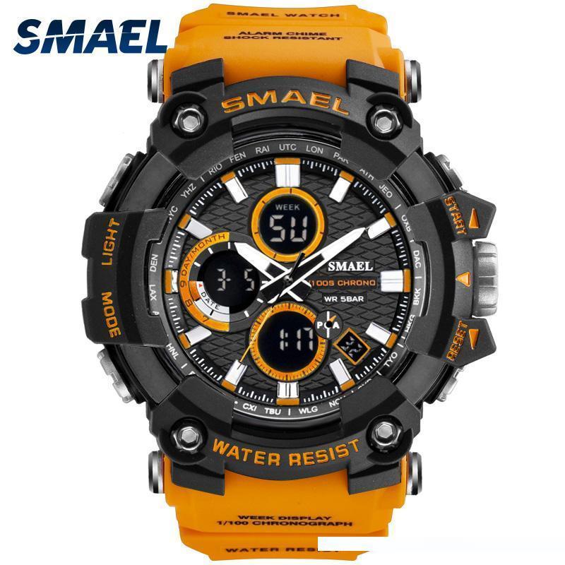 Montres Hommes Homme 50m étanche Sport Watch Time Horloge double Montres pour 1802D resisitant Cadeaux Sport