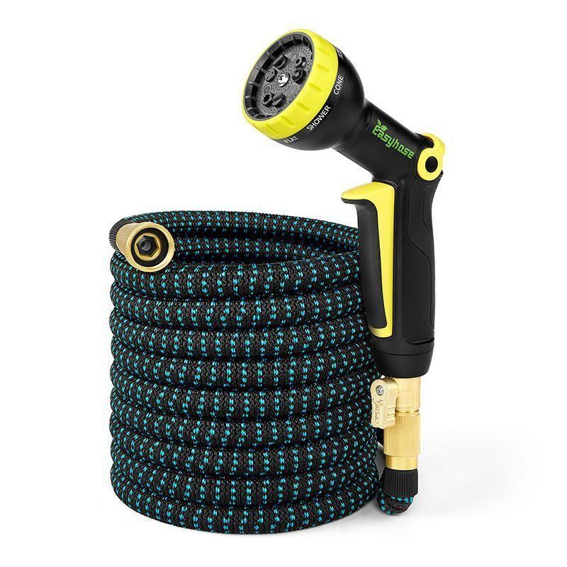 Garden Hose Expandable Magic Flexible High Pressure Car Wash Spray Gun 3 Times Telescopic Garden Watering Hose with Spray Gun