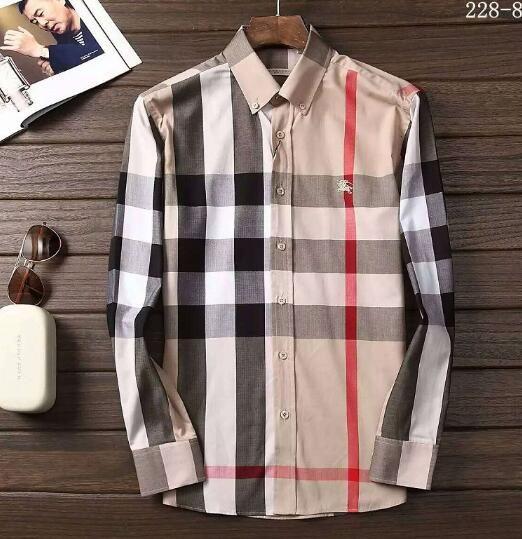 Newest Fashion Autumn Mens Shirt Candy Slim Fit Luxury Casual Stylish Dress Shirts Colours Plus Sizes M-3XL =111
