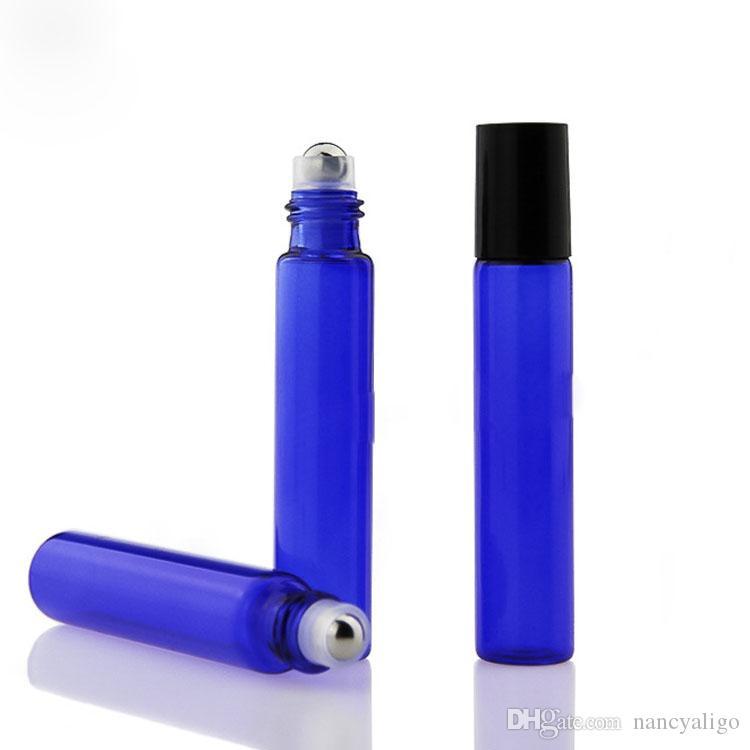 Красный Синий Зеленый 10ml Духи стекла Ролл на бутылки с стекла металлический шар 10 мл Roller Эфирное масло Флаконы 1620Pcs Бесплатная доставка