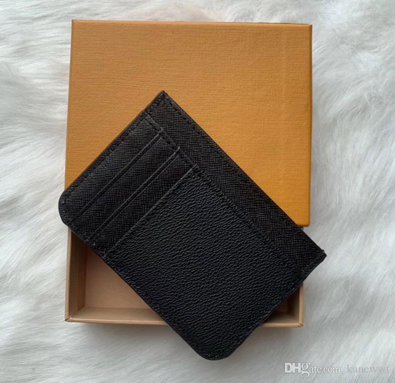 2018 nuovi Mens adattano casuale classico supporto della carta di credito di identificazione del cuoio di qualità di Hiqh Ultra Slim Wallet Packet borsa per Mans / Womans