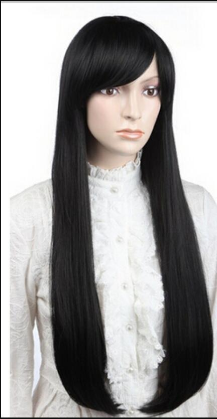 WIG Hot Sell New Fashion black Medium Straight Women's Lady's Hair Wig Wigs