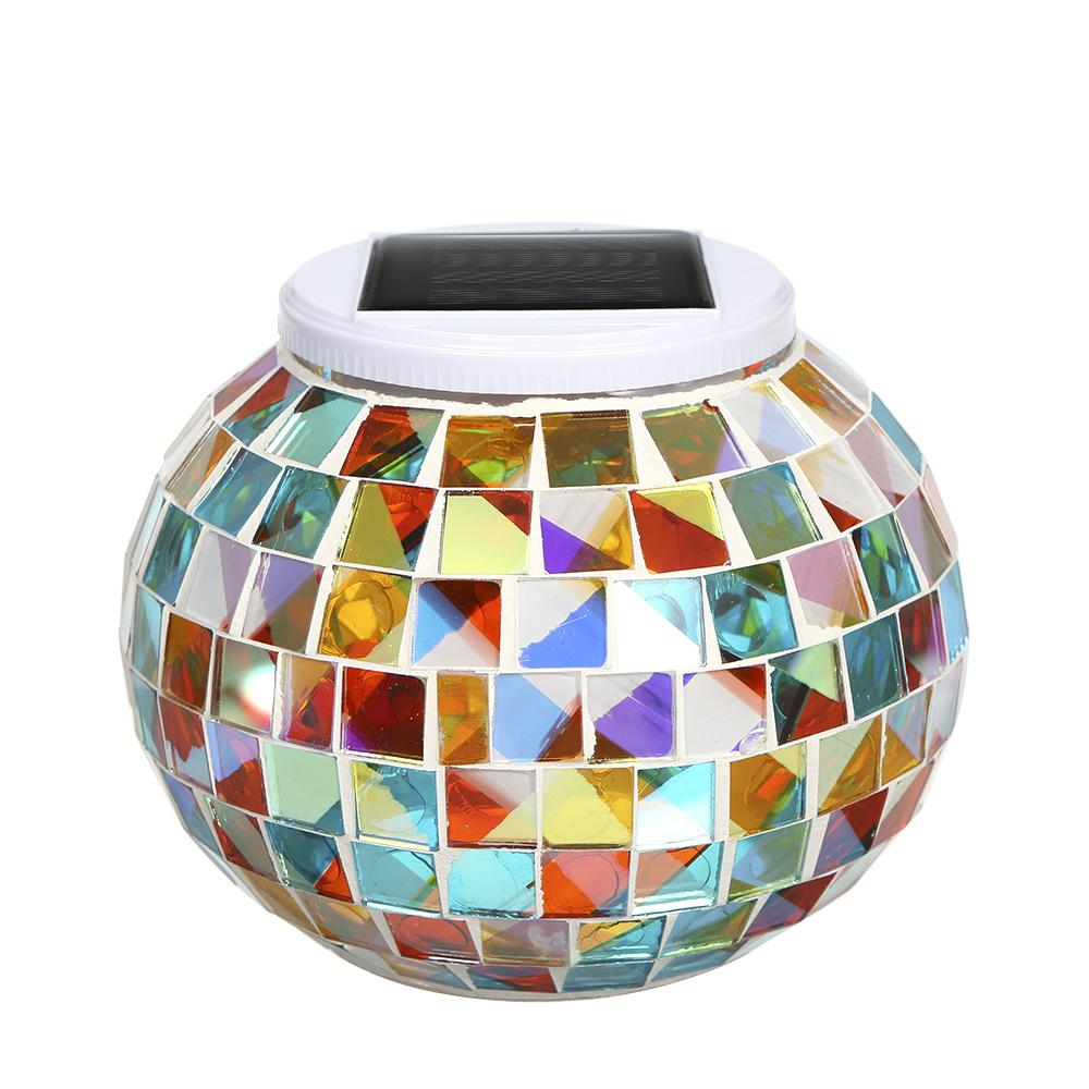 Color Changing Solar Powered Glass Ball Garden Light Outdoor Decorative Table Lights
