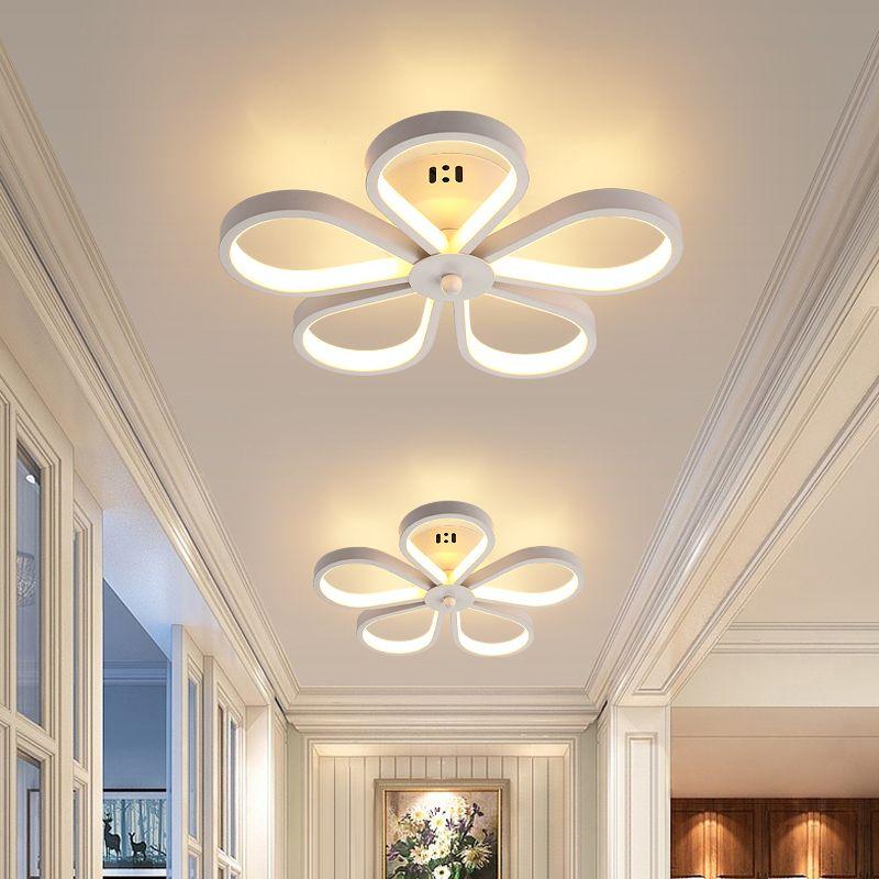 2021 Modern Kitchen Ceiling Lights Fixture Decoration Plafonnier White Black Creative Flower Hanging Led Ceiling Lamp Bedroom Hallway From Ledleader 52 77 Dhgate Com