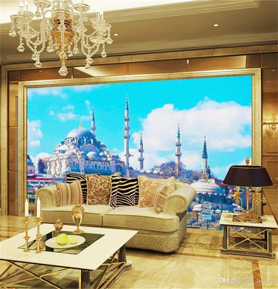 custom size 3d photo wallpaper living room
