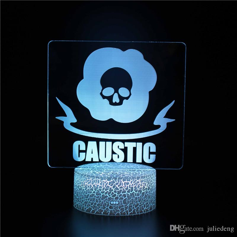 Red Dead Redemption 3D LED Night Light APEX CAUSTIC Night Light Collection 3D Magic Color Changing Children Gifts