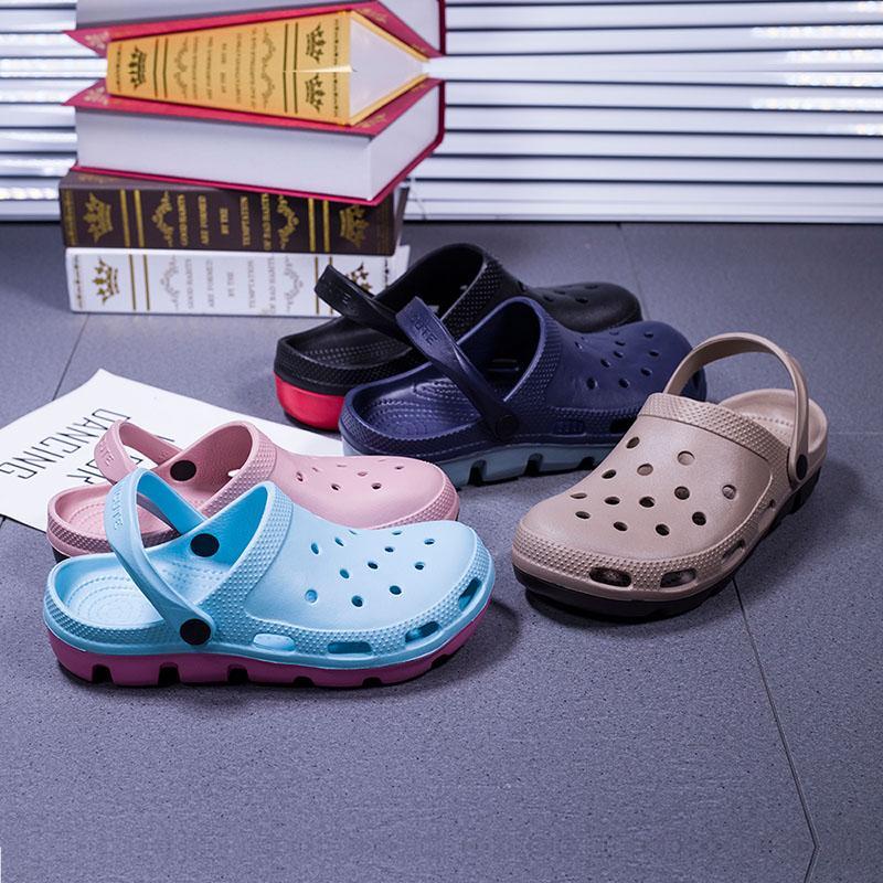 Original Girar clásico zuecos jardín los fracasos de los zapatos del agua playa de los hombres de verano aqua zapatos Zapatilla Piscina sandalias Neptuno florales