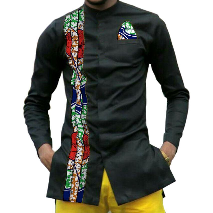 2020 African Print Mens Dashiki Shirts Mens African Clothes ...