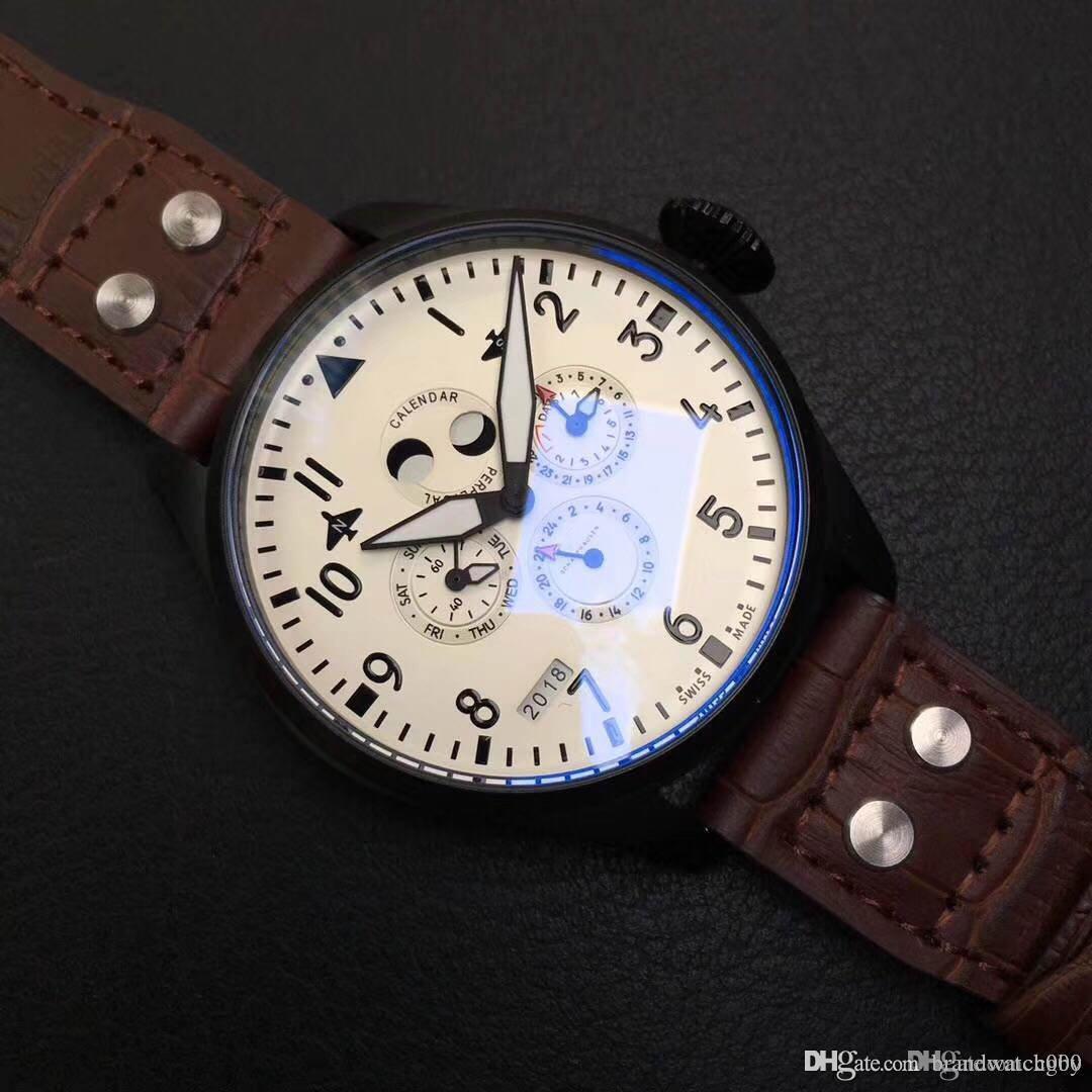 Portuguesa de línea series.The reloj almanaque de los hombres de lujo es de 42 millimeters.Automatic masculina series.M almanaque watch.Luxury watches.Portuguese