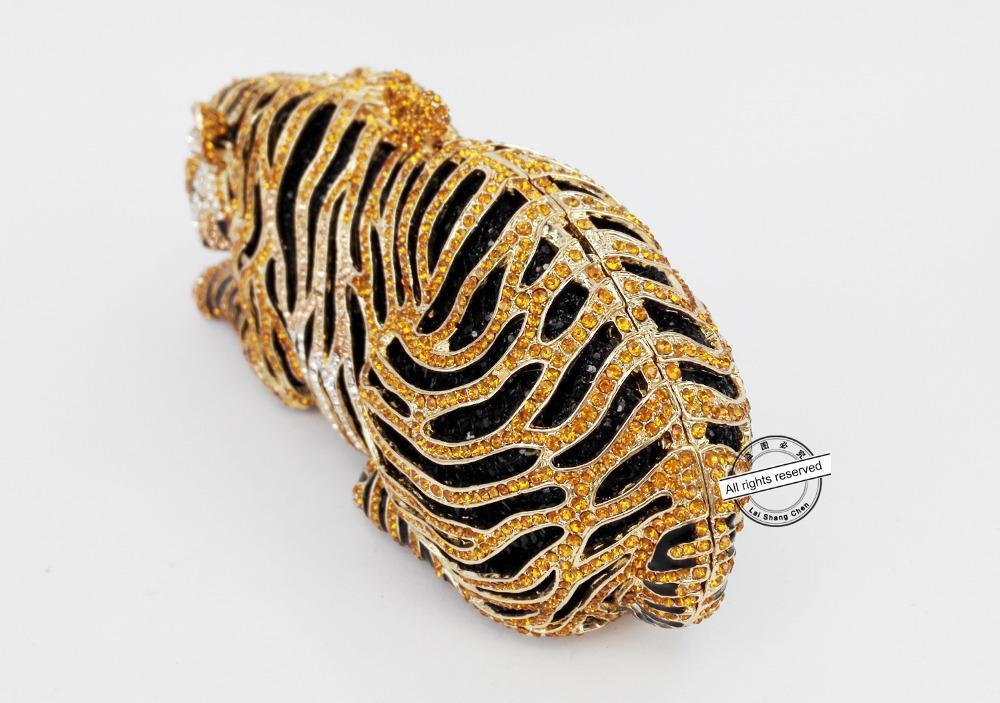 сумки Дизайнер-животных Тигр Роскошный Кристалл мешок вечера Leopard коктейль кошелек сумки Бесплатная доставка женщин сцепления Кошелек SC030