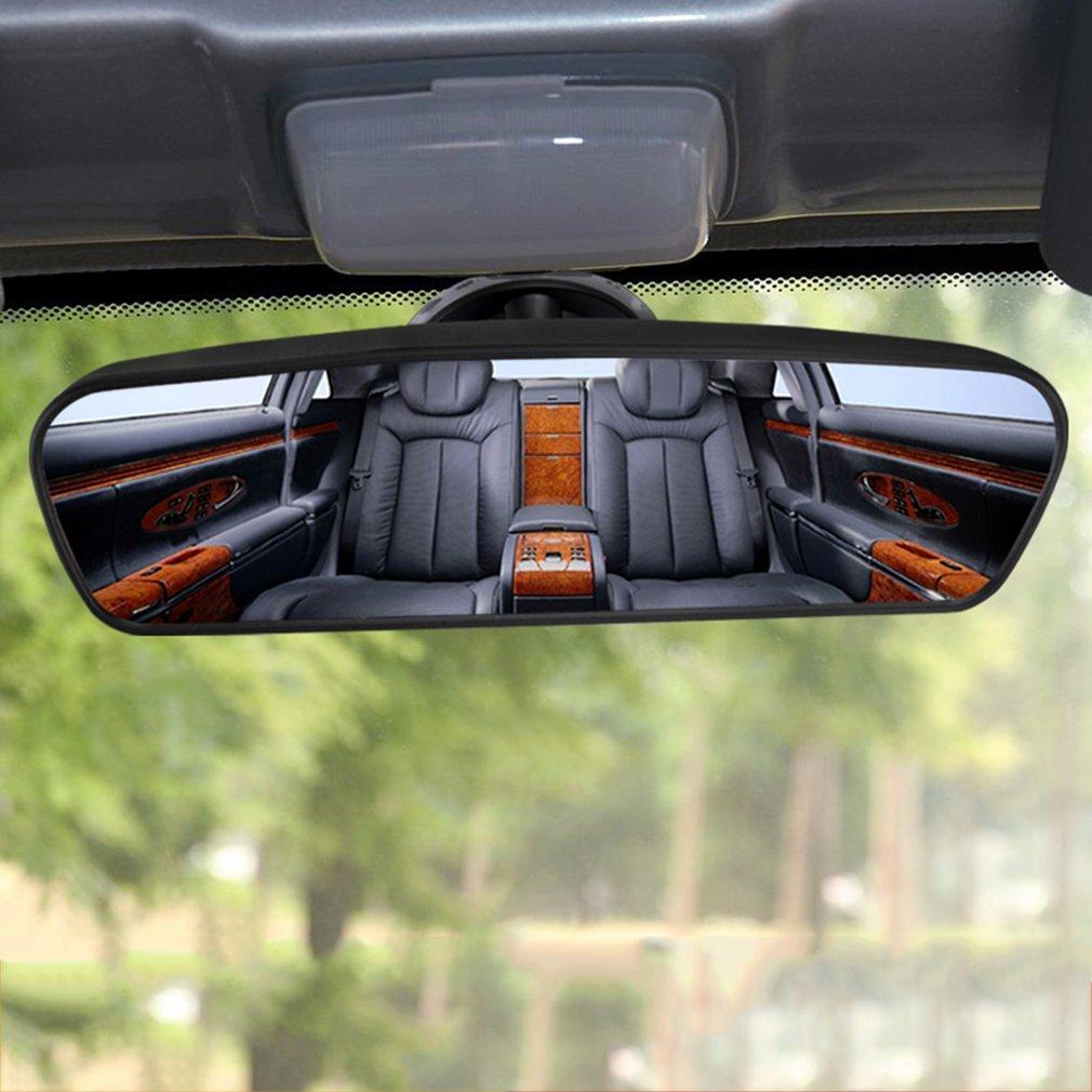 Specchietto retrovisore interno grandangolare Specchietto retrovisore interno con ventosa Colore: nero