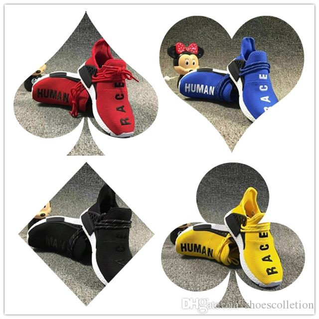 Adidas NMD shoes Big Kids 2019 Shoes for Kid Human Race Zapatillas de deporte Niños Pharrell Williams Pour Enfants Chaussures Niños Zapatillas de deporte para niños Zapatillas