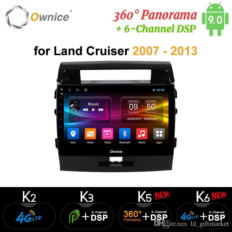 Toyota arazi için Ownice Android 9.0 Oto DVD Navi GPS Oynatıcı Cruiser 200 2007-2013