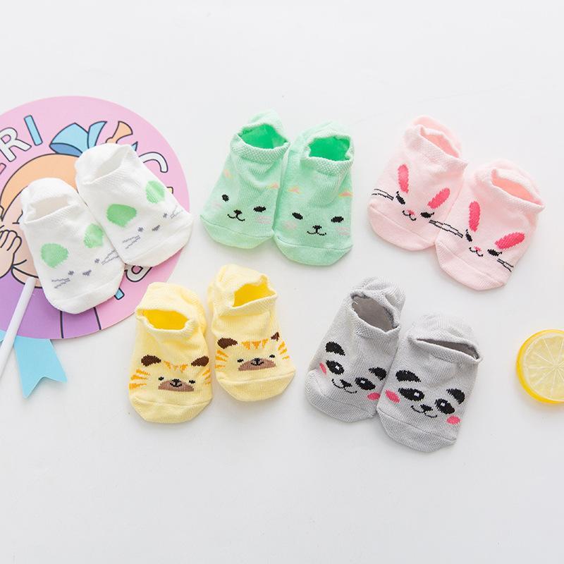 Summer Infant printemps silicone anti-dérapant courtes en coton mince bateau Chaussettes Enfants Garçons Cute Girls Chaussettes Invisible Cartoon