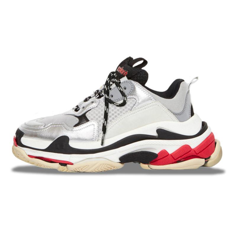 2020 neue Qualitäts-Triple S Designer Low-Top Frauen Wanderschuhe Kombination Sole-Leder-Männer Luxus-Schuhe Sport beiläufiger laufender Schuh