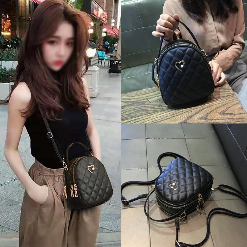 2020 do New Style Textured Rhombus Messenger Bag Mulheres Handbag Ombro couro macio do saco Mulheres Pouch