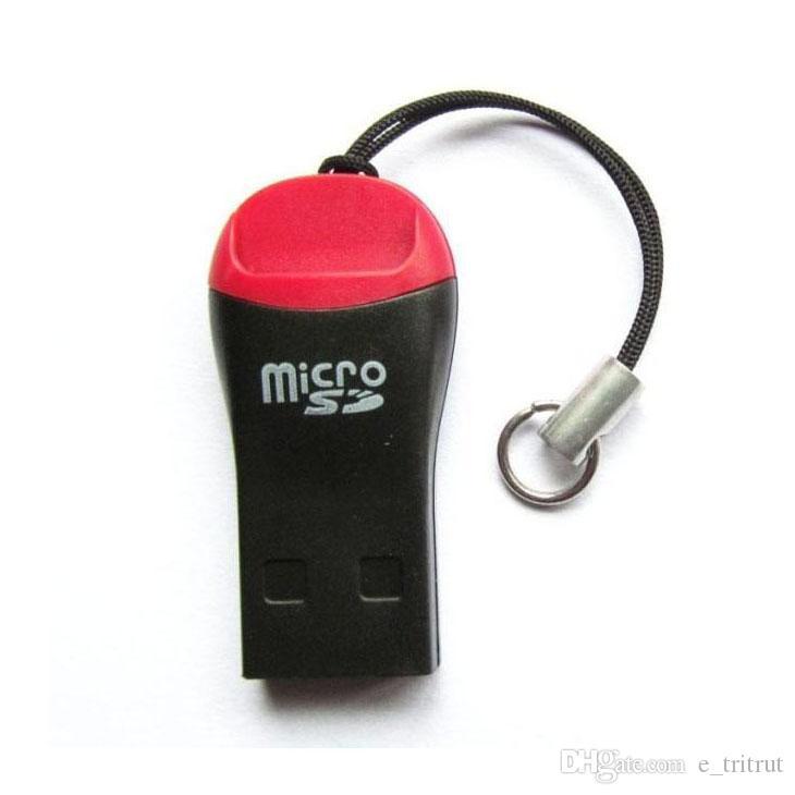 صافرة عالية السرعة البسيطة USB 2.0 T-فلاش الذاكرة قارئ بطاقة TF قارئ بطاقة SD الصغيرة cardreader 1K