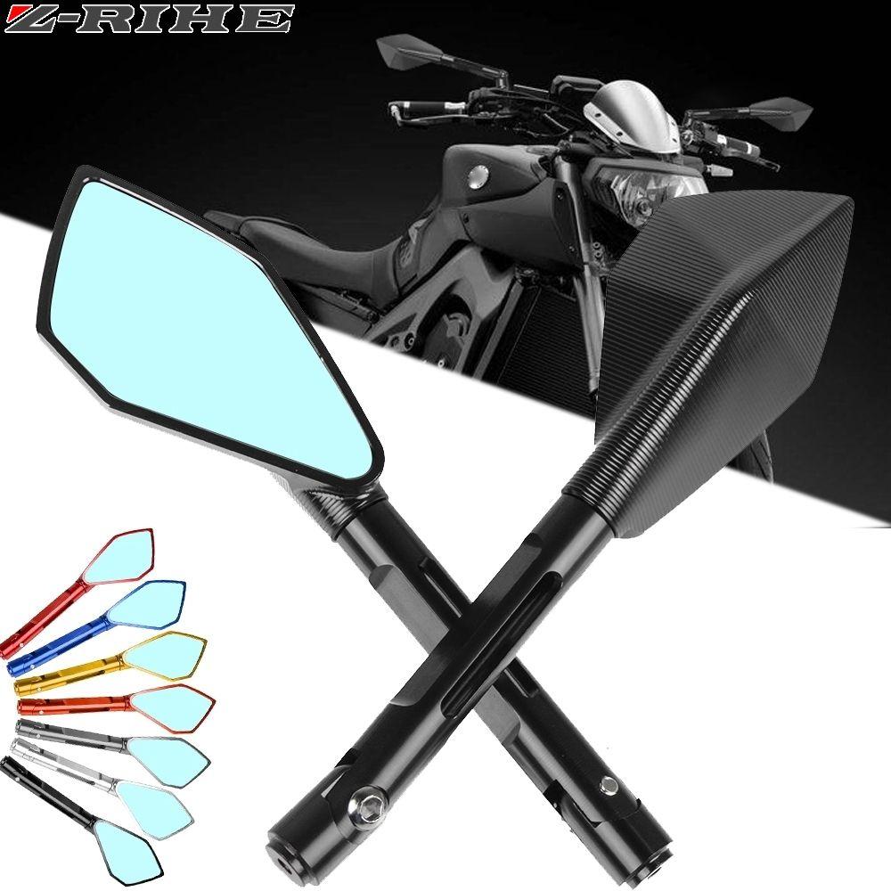Universal motocicleta Espelho Retrovisor moto CNC Side espelhos para ys 150 tmax 530 TDM 850 fz6n MT10 c8 nmáx 155 fazer8 etc.