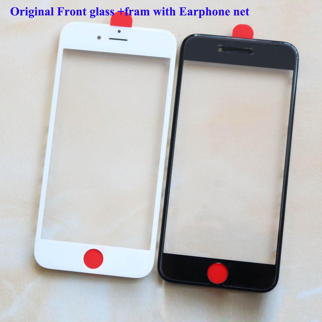 Replacement LCD Front Touch Screen Panel Outer Glass Lens For iphone 6 6plus 6s 6splus 7 7plus 8 8plus outside screen front glass with frame