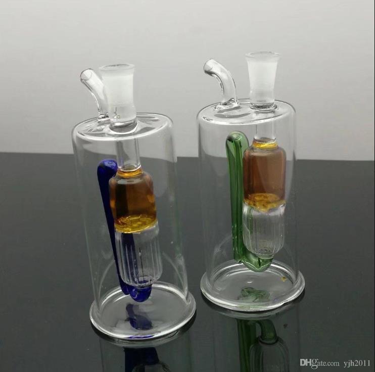 type spécial de circulation bouteille d'eau en verre en verre Bbong Wwater tube moulin à ongles titane, barboteurs en verre pour fumeurs Couleurs pipe Mix