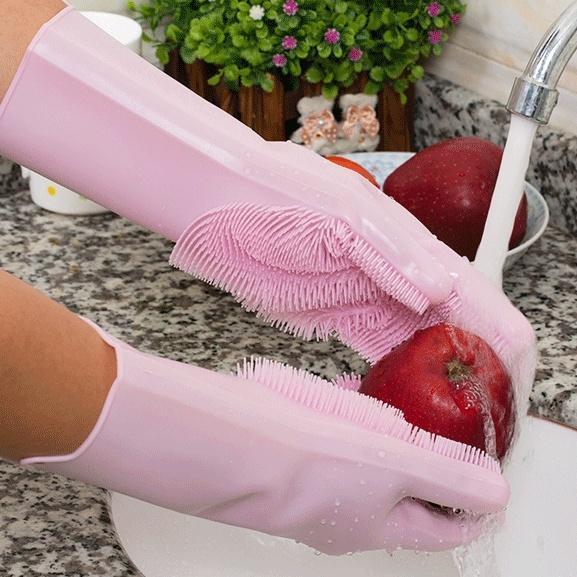 1 шт или 1 пара волшебных силиконовых щеток перчатки для мытья посуды кухонные чистые многоцелевые домашние силикагелевые моющие перчатки