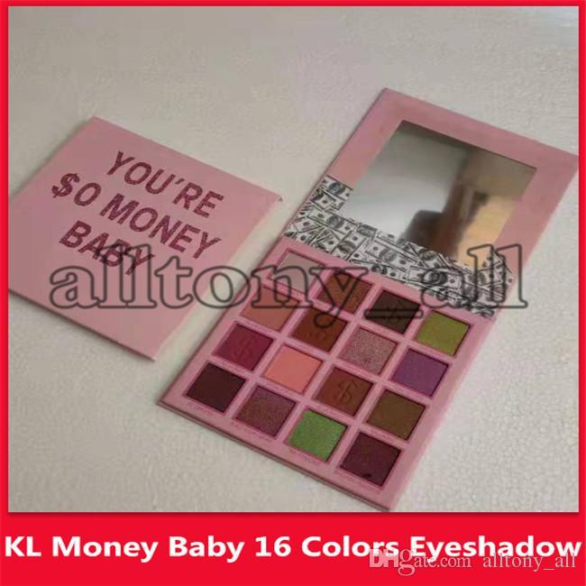 Hot Brand Vous êtes $ 0 argent bébé yeux Maquillage 16 couleurs Shimmer Matte Ombre à paupières Make Up Palette Ombre à paupières de fard à paupières