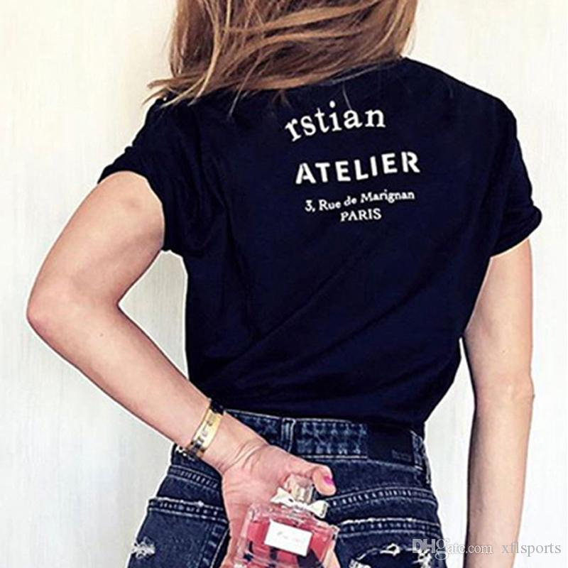 20FW Fransa Yüksek Kalite Sokak Tee klasik Logo mektup baskılı T-Shirt katı kısa kollu Erkek Kadın yaz ekip boyun Tee HFYMTX707